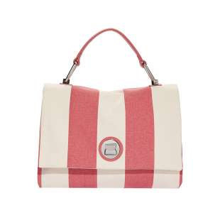 Coccinelle Liya Striped Canvas Bouganville E1FC8180101P39