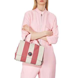 Coccinelle Liya Striped Canvas Bouganville E1FC8180101P39 2