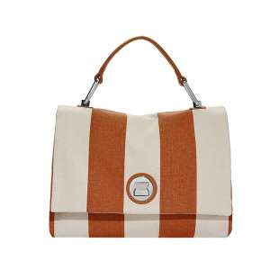 Coccinelle Liya Striped Canvas Tan E1FC8180101W09