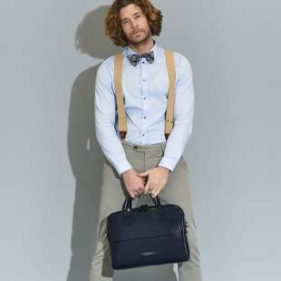 The Bridge Briefcase Williamsburg 06141701 Navy Blue 2