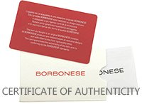 BORBONESE CERTIFICATE OF AUTHENTICITY